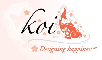 logo Koi design happiness